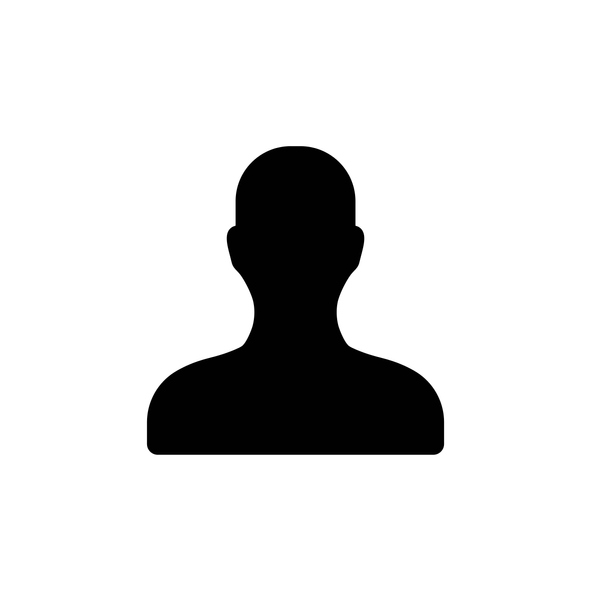 User account sign line icon in black. Avatar symbol. Illustration on white background. Trendy modern profile sign in flat style, for app, graphic design, web, site, ui, ux, mobile. Vector EPS 10